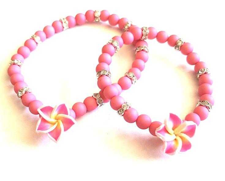Moeder Dochter Armbanden Set Roze