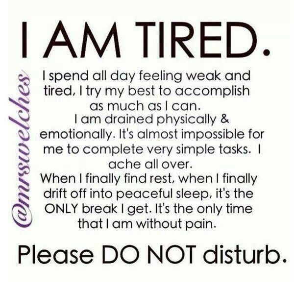 Amen! so true for many illnesses where dealing with constant pain exhausts you