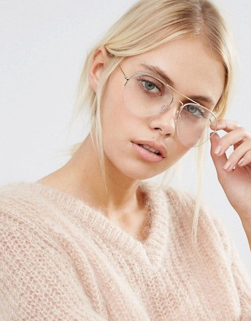 Pieces | Pieces Clear Lens Aviator Glasses