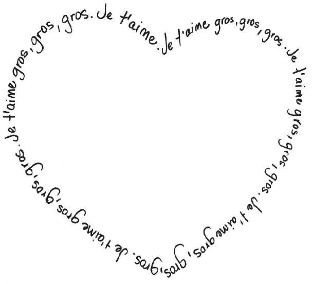 Dessine dans le cœur et offre ton beau dessin à la personne de ton choix! Téléchargez et imprimez le dessin. #enfant #jeux #dessin