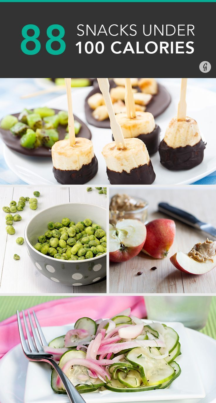 88 Unexpected Snacks Under 100 Calories #lowcal #healthy #snacks: