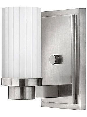 Hinkley Lighting 4970 1 Light Indoor Wall Sconce From The Midtown  Collection Brushed Nickel Indoor Lighting Wall Sconces Up Lighting