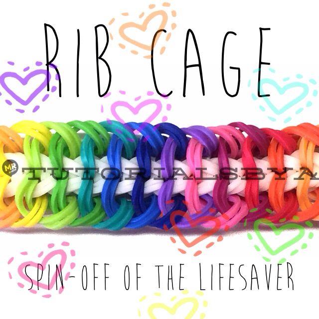 Rainbow Loom Rib Cage Bracelet Video Tutorial by TutorialsByA