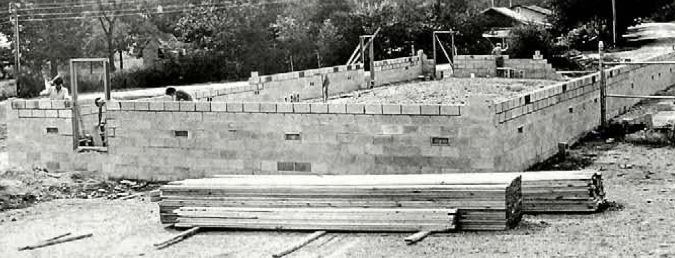 A photo from the Sept. 27, 1973 Herald shows Houston High School carpentry class students work on construction of building just west of the brand new Tiger Stadium. The 40 X 80-foot field house (to be ready for the 1974 football season) will house locker room facilities for varsity and ninth-grade football, as well as weight lifting space and two public restrooms. (Houston Herald Archives)