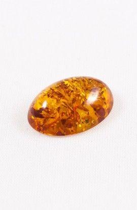 Cabochon Ambra color miele
