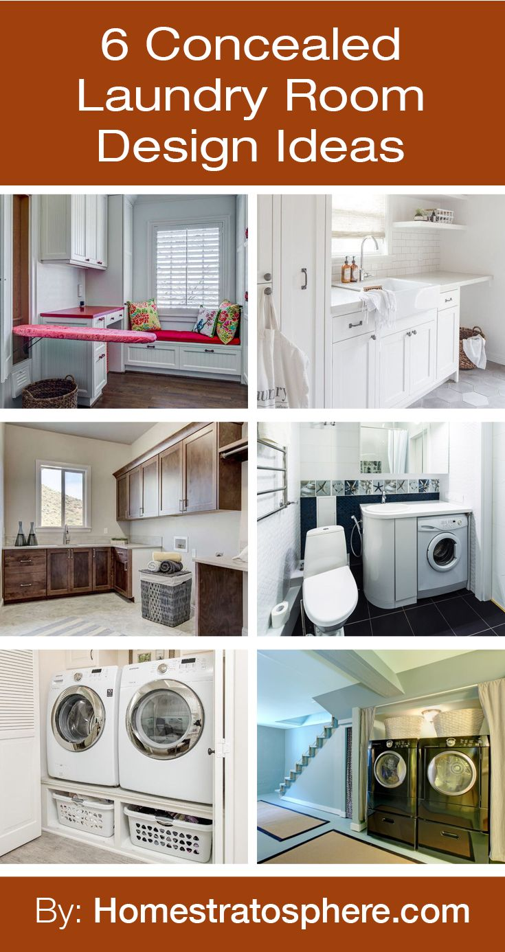 6 Concealed Laundry Room Design Ideas