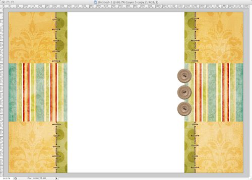 Tutorial - make a scrapbook blog background on photoshop