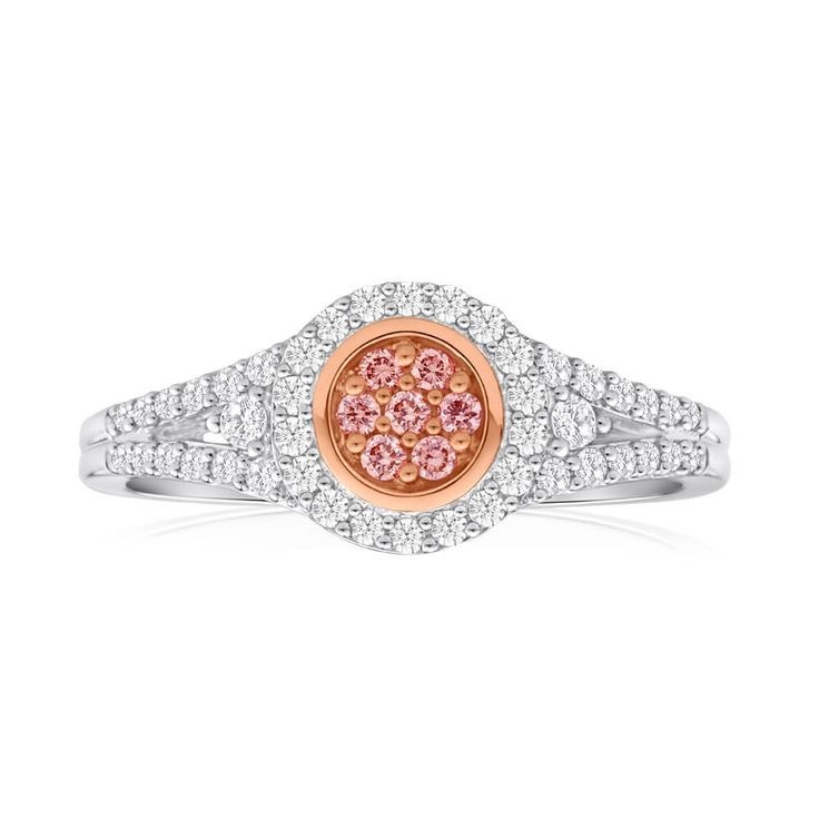 Forget the usual white solitaire diamond, try a stunning and unique Pink argyle Diamond Engagement Ring in 18ct Gold