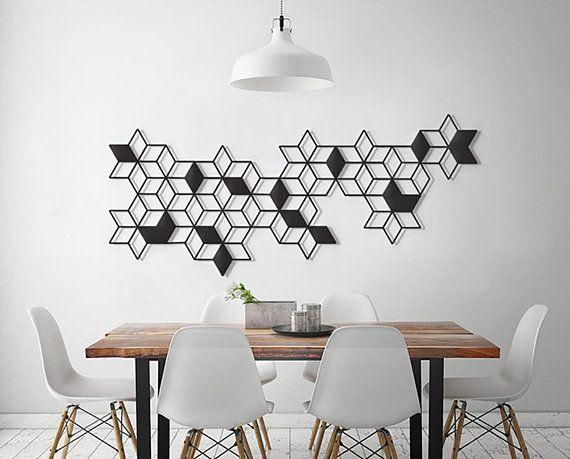 Geometric Wall Art Metal Wall Art Minimalist Wall Art Etsy Geometric Wall Art Geometric Wall Black Metal Wall Art