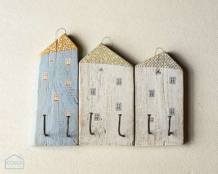Trashforming: casitas para colgar cosas hechas con #madera desechada. #upcycle