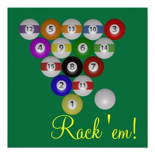 Rack Em Billiard Ball Pool Table Light: $1.62 Rack Em Party Invites. 8 Ball Rack On A Pool Table