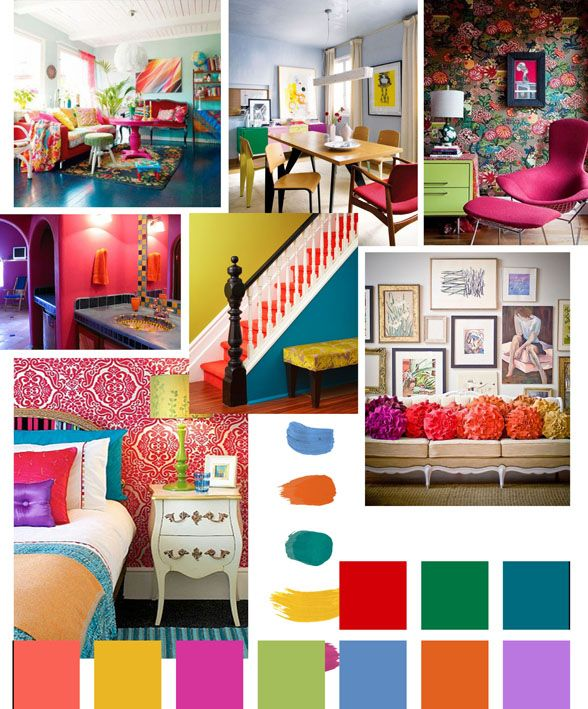 Clash the Senses moodboard - As plans for the Olympic Games and World Cup underway, we take the grand plans of Brazil as the inspiration for this trend. With 'Rio de Janerio', 'beach' and 'carnival' key words as relative words, the key aims for the 'Clash the Senses' trend is vibrant, bold and contrasting. From Write on Trend.