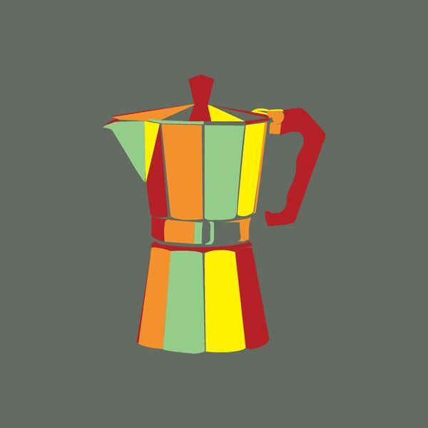 Espresso Percolator Textile Design by Emily Berger, via Behance