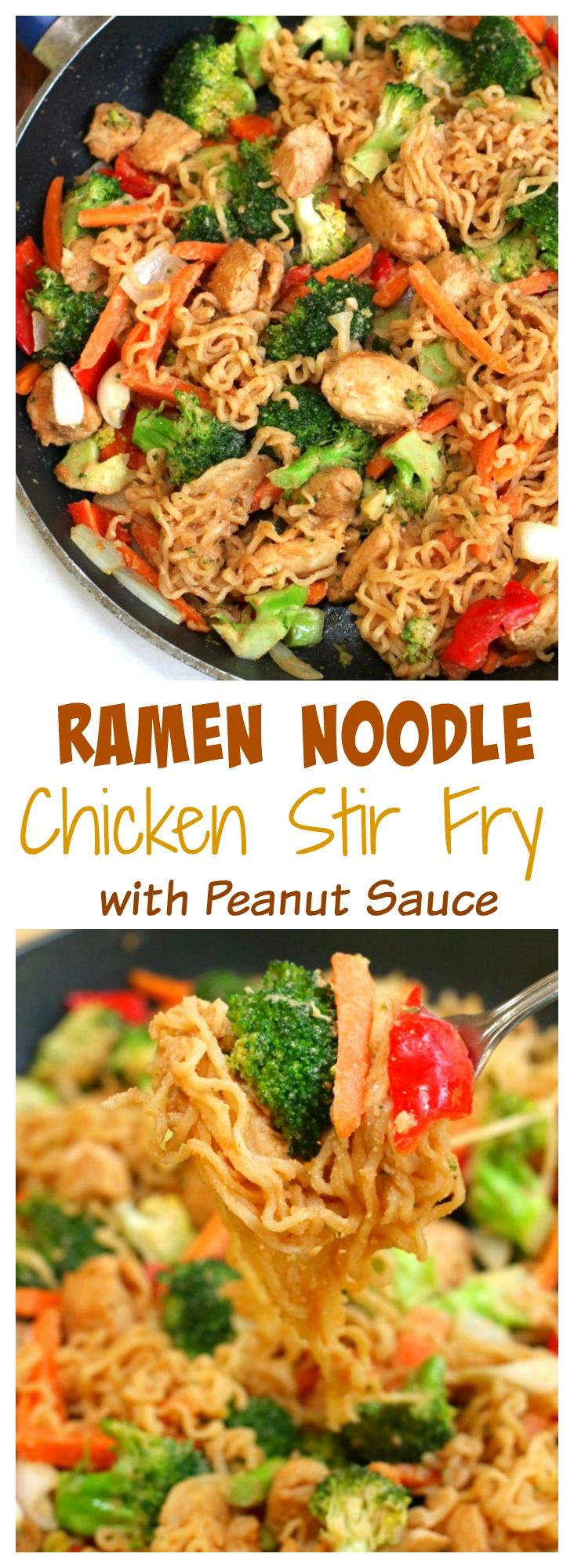 Tasty noodles & chicken covered in a savory peanut sauce & tossed with fresh vegetables.