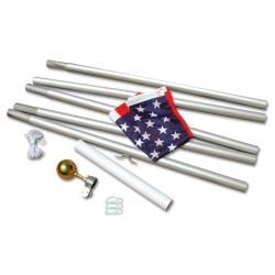 20' Aluminum Flagpole with Free 3'x 5' American Flag