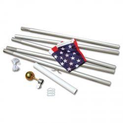20' Aluminum Flagpole with Free 3'x 5' American Flag