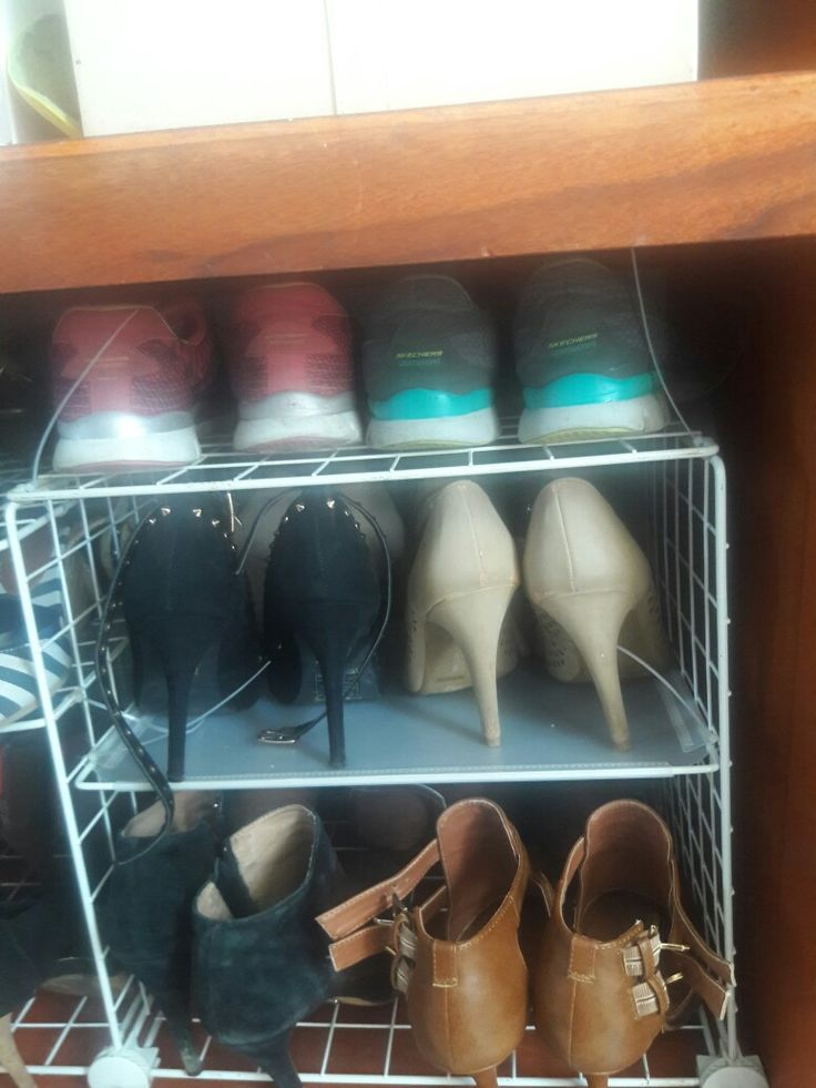 Shoe holder on a budget