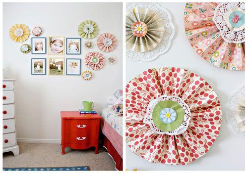 Paper Wall Flowers: Office, Girl Room, Creative Wall, Big Girl, Paper Flower, Girls Room, Daughters, Kids, Bedroom