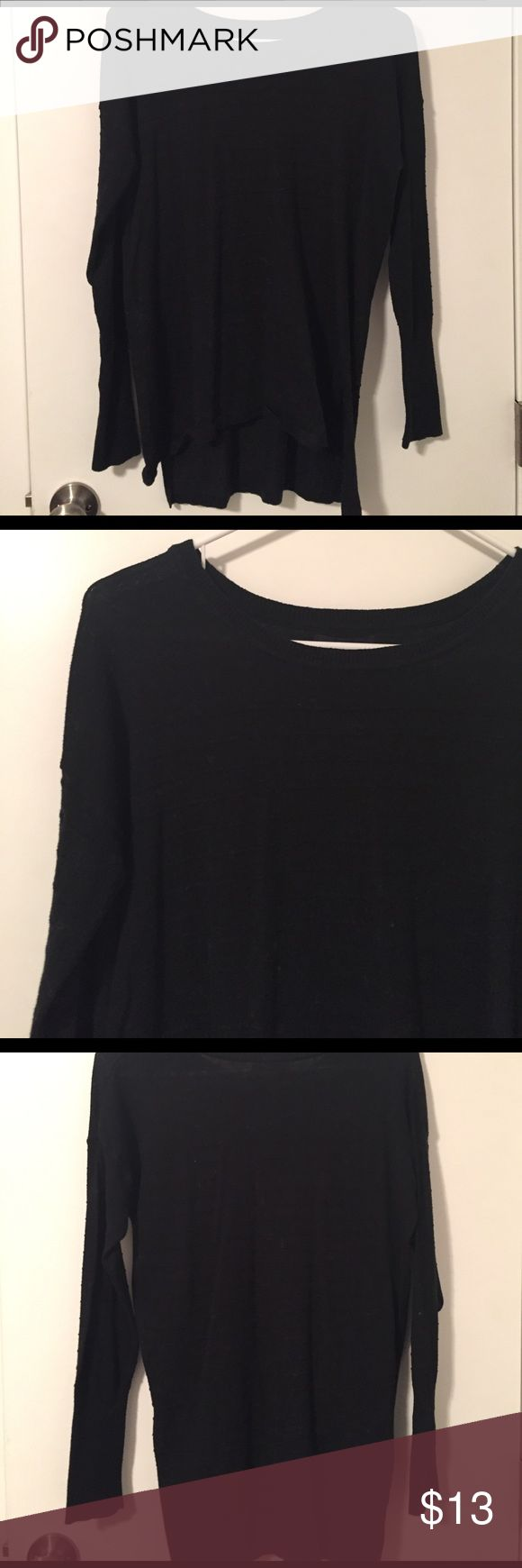 Black Gap Sweater Long sleeve black gap sweater. Textured lines along the front, back and sleeves. GAP Sweaters Crew & Scoop Necks