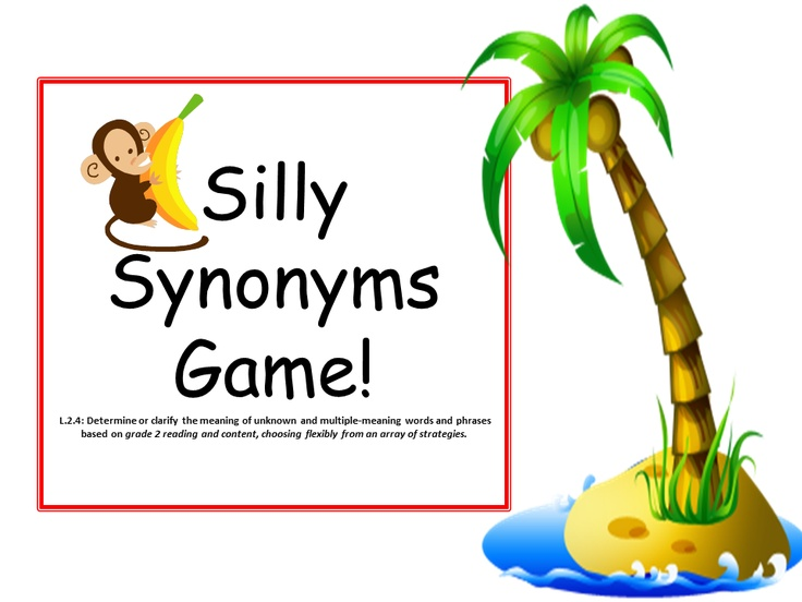 Synonym Games with Common Core Standards classroom- literacy ...