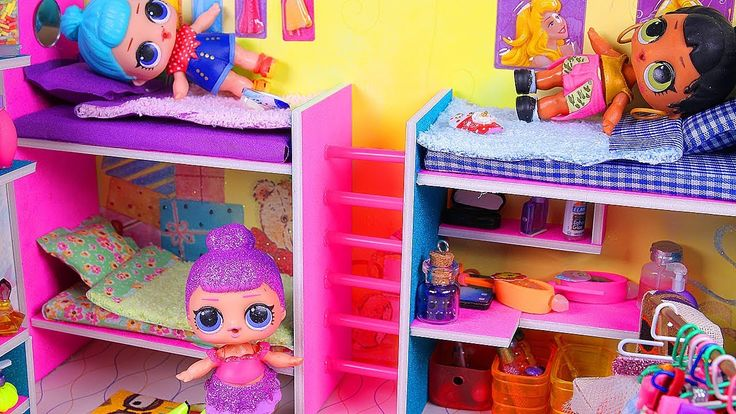 Best Diy Miniature Doll Bunk Bed Dollhouse Bedroom For Lol 640 x 480