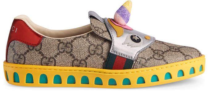 ea3e6885b Children's GG Supreme sneaker with unicorn | Kids | Girls sneakers ...