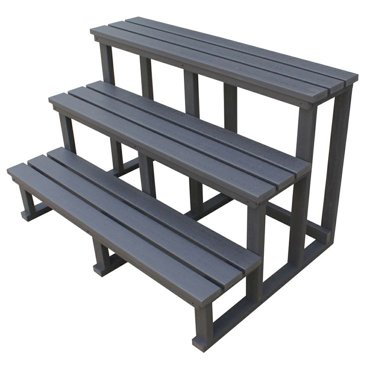 Spa World Three-Tier Steps Grey, durable synthetic construction, without the hassle of wooden steps. http://spastore.com.au/spa-pool-accessories/three-tier-swim-spa-steps-grey/ #pool #spa #spapool #swimspa