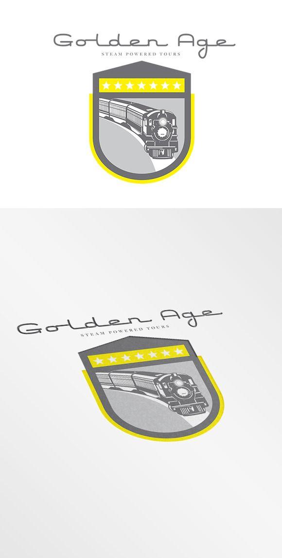Golden Age Steam Powered Tours Logo by patrimonio on Creative Market