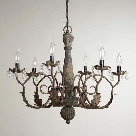 Aged black chandelier (from World Market) inspiration