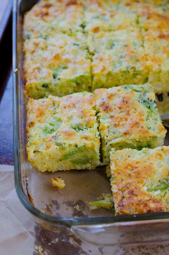 Get your fill of broccoli in this mildly sweet broccoli cornbread recipe - comfort food side dish at it's best!