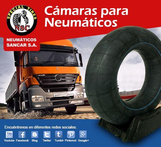 Cámaras para neumáticos Sancar S.A. Líderes en NM Agrícolas, Industrial, Forestal, Minero y ahora  Autos,Camionetas.