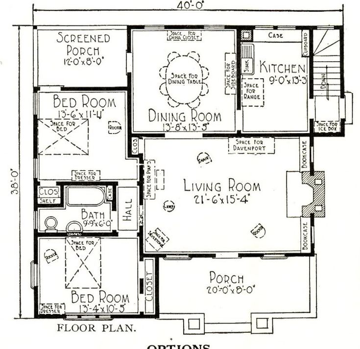 mail floorplan. Floorplan For The Del Rey Shows A Sleeping Porch That Is Usually Converted Into Another Bedroom Mail L