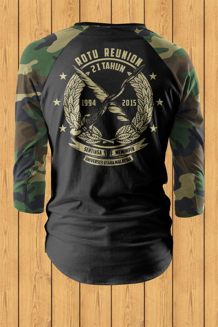 Palapes Rotu Reserve Army Malaysia Remake T Shirt Raglan