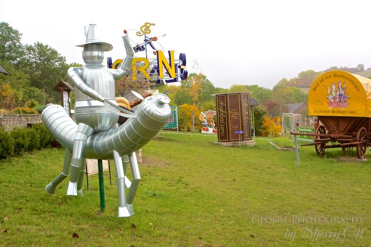 german bratwurst museum - Where else can you find the tin man riding a bratwurst?