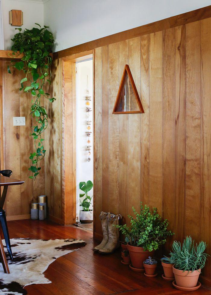 an inspired bohemian home in the california desert designsponge - Wooden Wall Paneling Designs