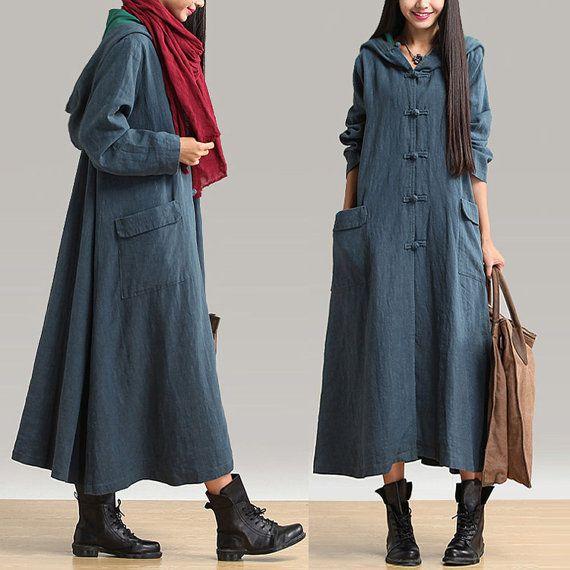 Loose Fitting Linen Jacket Coat Outwear for Women by deboy2000