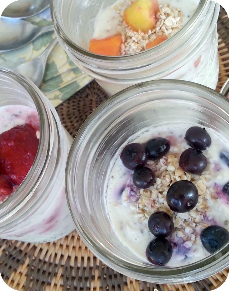 The Better Baker: Overnight No-Cook Oatmeal Yogurt Cups