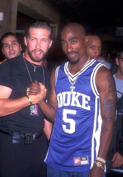 "With Stephen Baldwin.  Tupac said he wished ""everybody success . . ."""