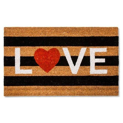 Valentine's Love Coir Doormat | shopswell