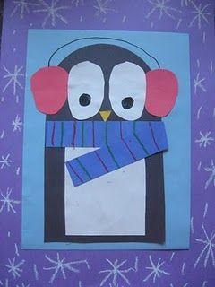 winter craft - paper penguins