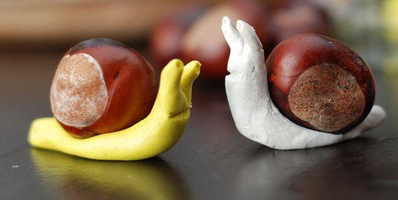 Ideias Giras: Castanhas, ouriços e plasticina...