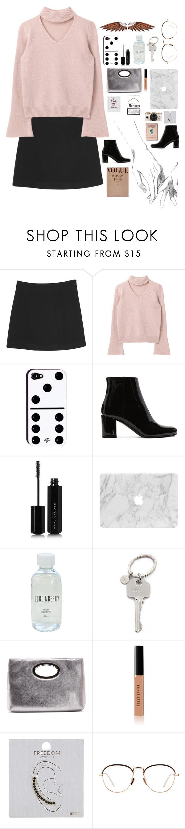 """""""Fashion Prada"""" by lucky-luci ❤ liked on Polyvore featuring Monki, Yves Saint Laurent, Marc Jacobs, Lord & Berry, Paul Smith, Donald J Pliner, Bobbi Brown Cosmetics, Topshop, Urban Outfitters and Linda Farrow"""