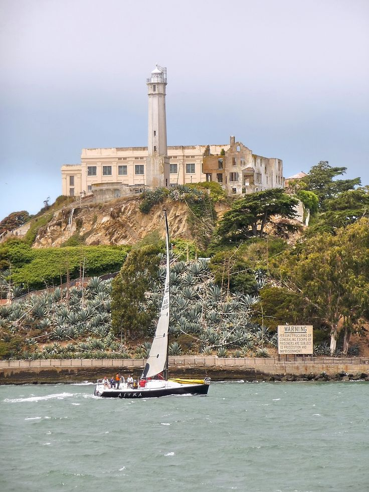 A nice picture of the Alcatraz Island Lighthouse in California.  The first lighthouse of California was Alcatraz Island Lighthouse; it is situated in San Francisco.