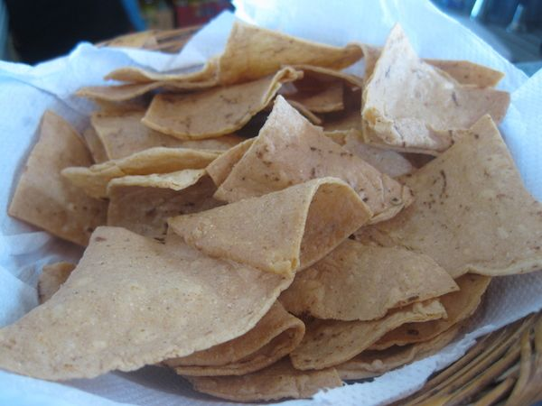 Fresh Made Tortilla Chips from Señor Iguanas Restaurant & Bar – San Miguel – Cozumel, Mexico