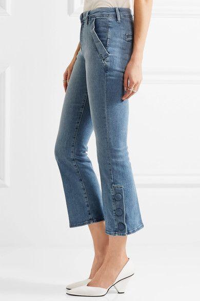 FRAME - Le Crop Mini Mid-rise Bootcut Jeans - Mid denim -