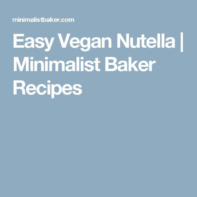 Easy Vegan Nutella | Minimalist Baker Recipes