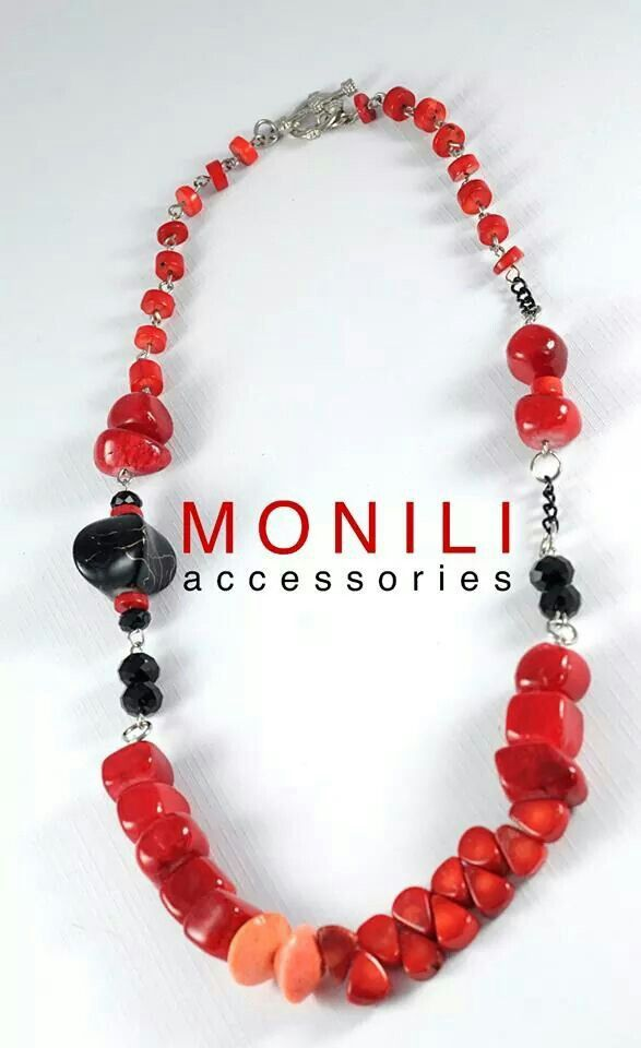 Blood Red Statement Necklace by MONILI