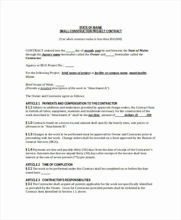 Contract For Construction Work Template New Construction Contract Template 12 Word Pdf Apple Contract Template Construction Contract Address Label Template
