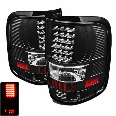 2004-2008 Ford F150 F-150 Pickup Performance LED Tail Lights - Black