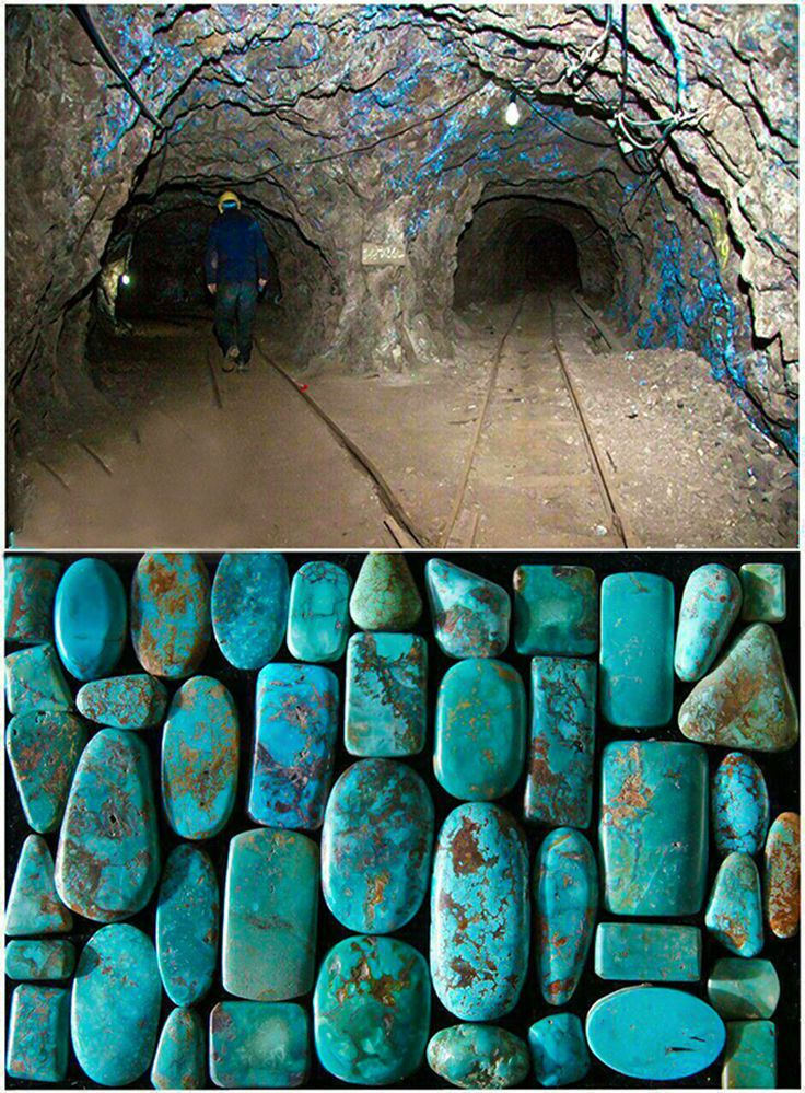 Turquoise Mine in the Iranian city of Nishapur is a very old mine and the most expensive cave in Iran.